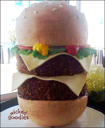 How to Make a Burger Cake by Wicked Goodies