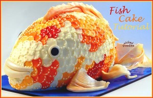 Fish Cake Tutorial by Wicked Goodies