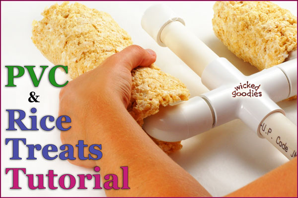 How to Sculpt Cakes with PVC and Rice Treats by Wicked Goodies