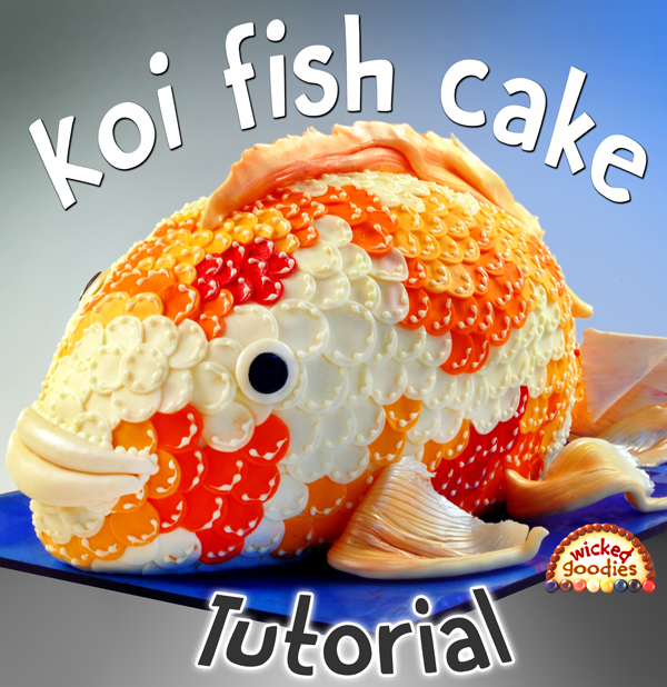 Koi Fish Cake Tutorial