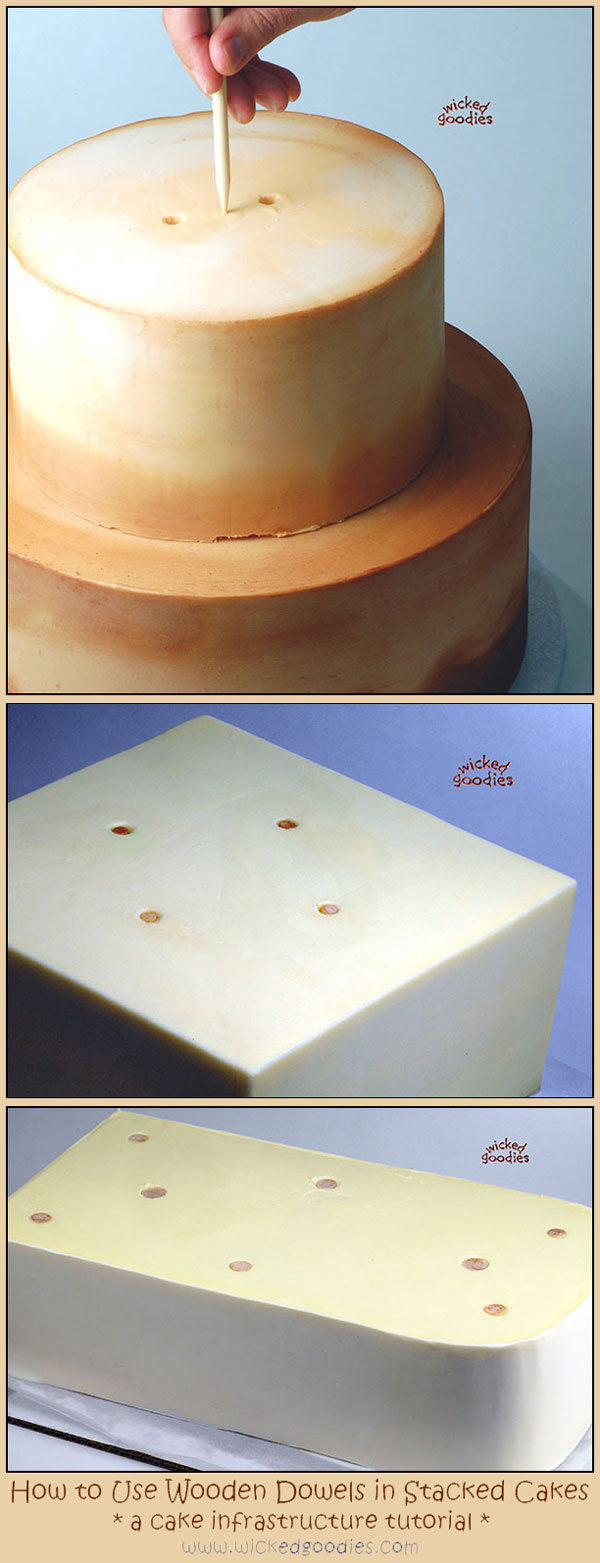 how do you dowel a wedding cake how to use wood dowels in stacked cakes 15386