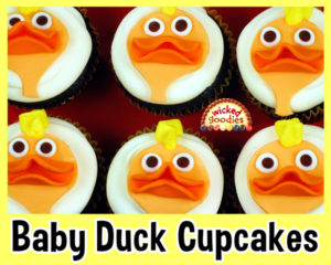 Baby Duck Face Cupcakes