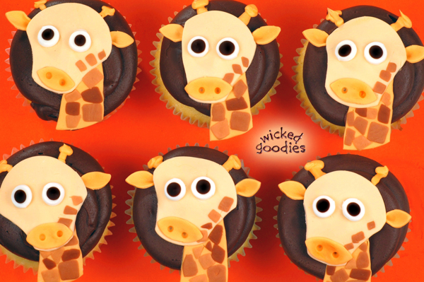 Baby Giraffe Cupcakes