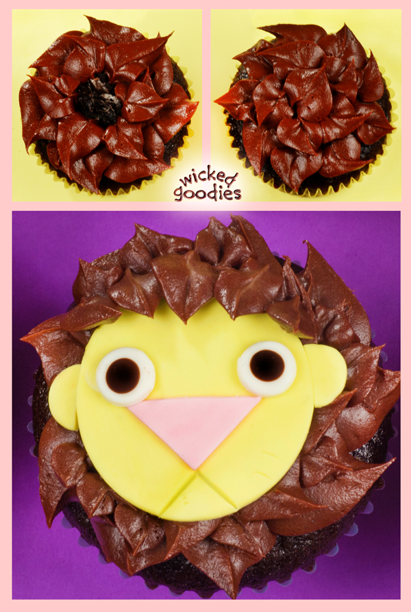 Baby Lion Cupcakes