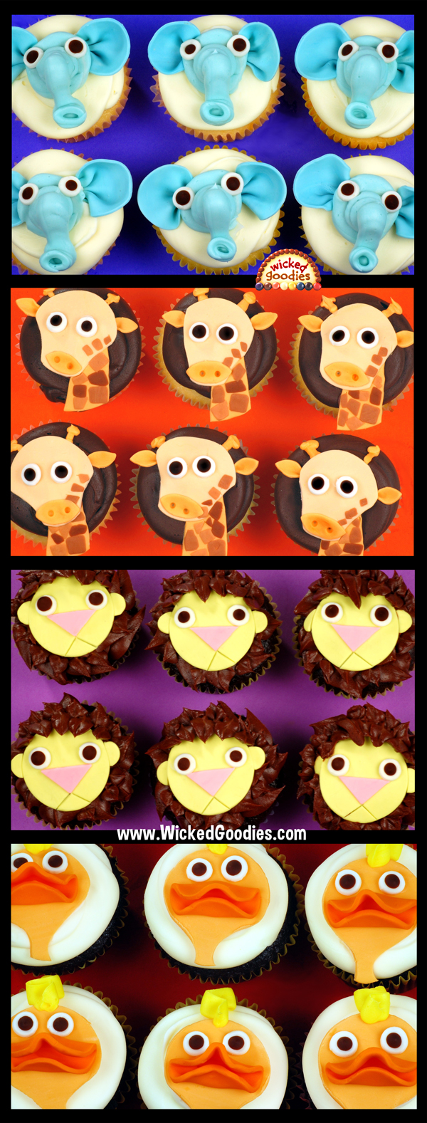 Baby Zoo Animal Cupcakes