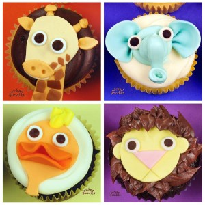 Zoo Animal Cupcakes by Wicked Goodies