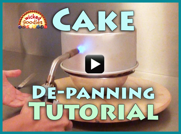 How to Release a Layer Cake from the Pan by Wicked Goodies