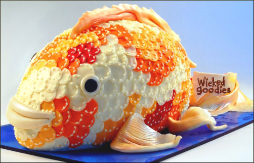 Koi Fish Cake Design