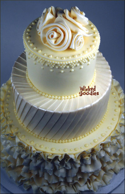 Wedding Cake Design by Wicked Goodies