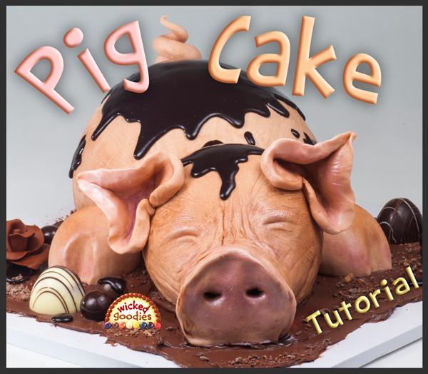 3D Pig Cake Tutorial