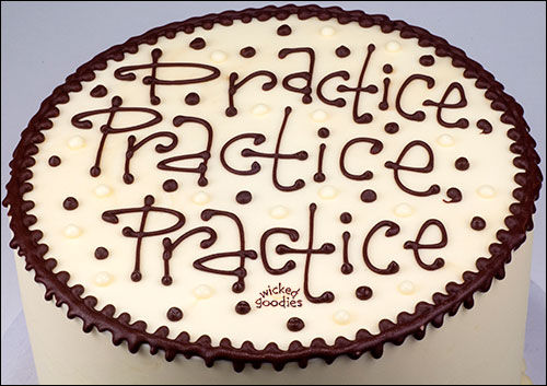 How to Write on Cakes with Chocolate by Wicked Goodies