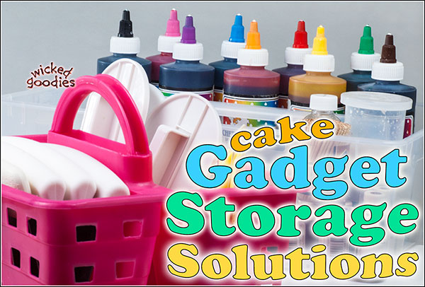 Cake gadget storage solutions by Wicked Goodies