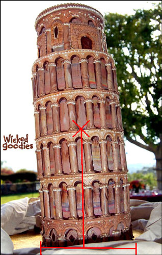 Leaning Tower of Pisa Cake by Wicked Goodies