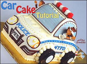 Car Cake Tutorial by Wicked Goodies