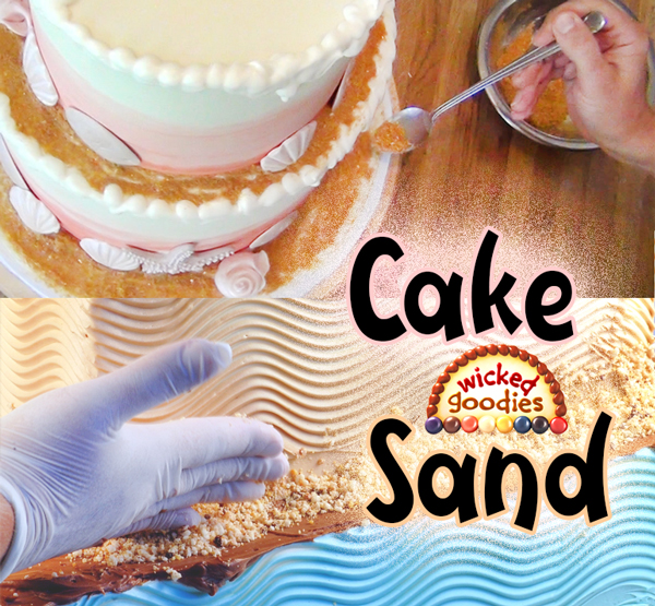 How to Make Edible Sand with Leftover Cake