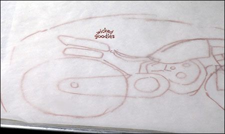 How to make a motorcycle cake for Motorbike template for cake