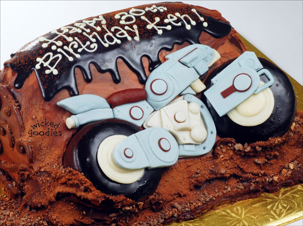 How to Make a Motorcycle Cake by Wicked Goodies