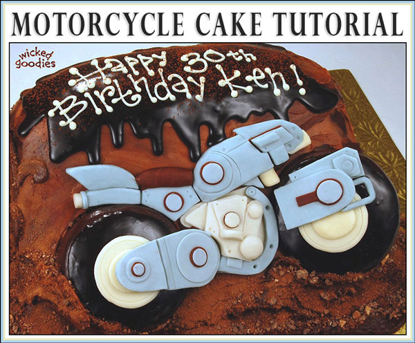 How to Make a Motorcycle Cake