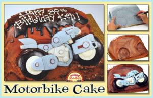 3D Motorbike Cake Tutorial
