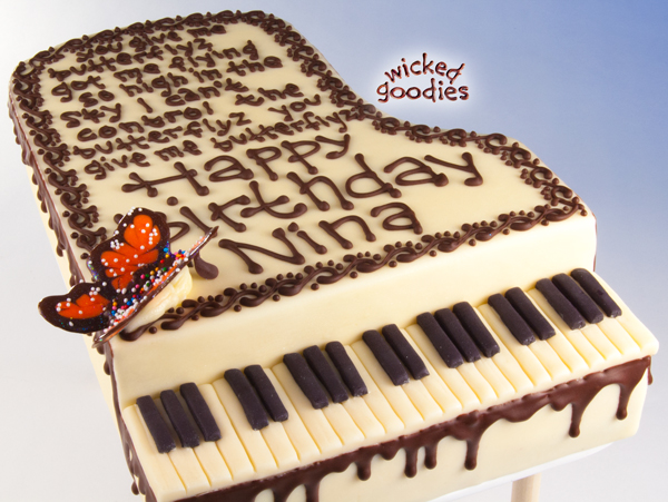 Tremendous Piano Cake Tutorial Wicked Goodies Funny Birthday Cards Online Aeocydamsfinfo