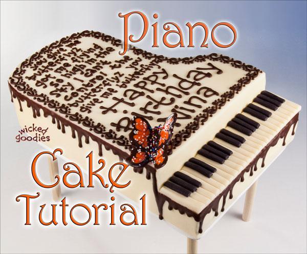 How To Make A Piano Shaped Cake