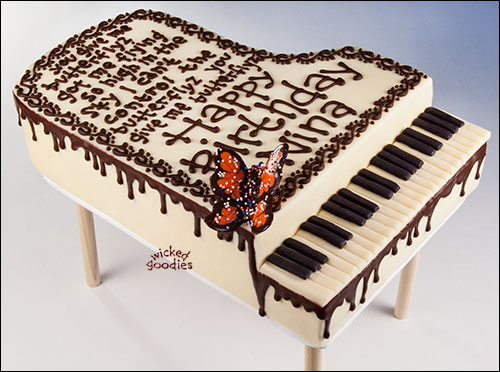 Piano Cake by Wicked Goodies
