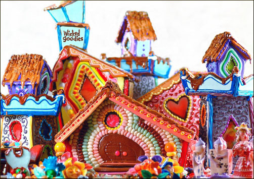 Alice in Wonderland Gingerbread House by Wicked Goodies