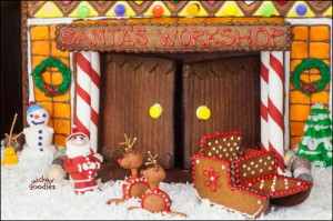 Giant Gingerbread House of Santa's Workshop by Wicked Goodies (2)