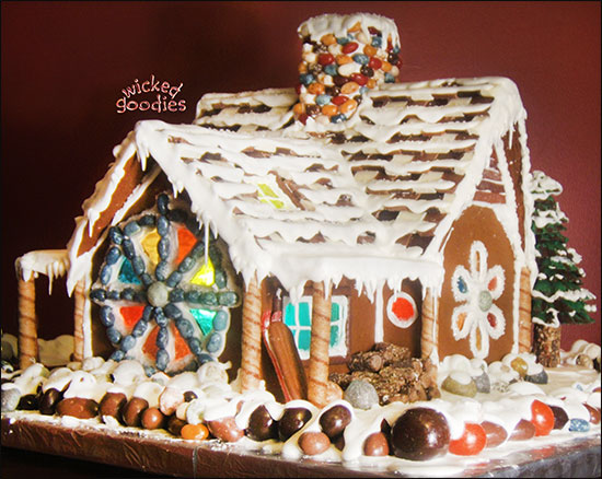 Winter Ski Chalet Gingerbread House