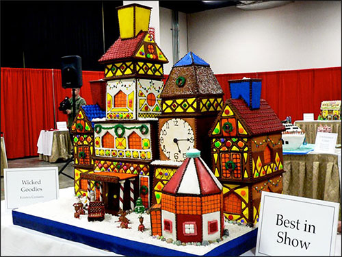 Gingerbread house competition video for How to make best gingerbread house
