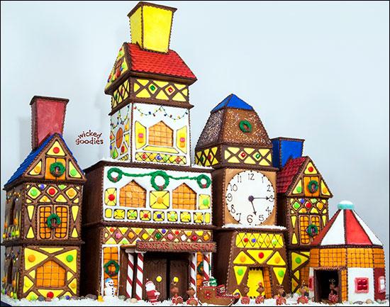 Santa's Workshop Gingerbread House by Wicked Goodies