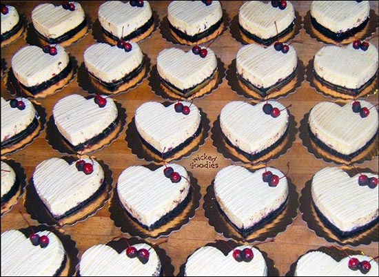 Chocolate Cherry Cheesecake Hearts