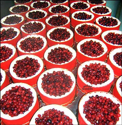 Cranberry Champagne Cheesecakes
