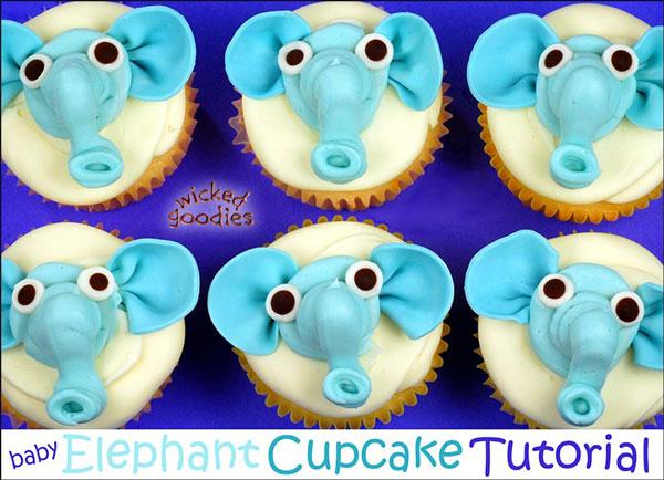 how to make elephant cupcakes