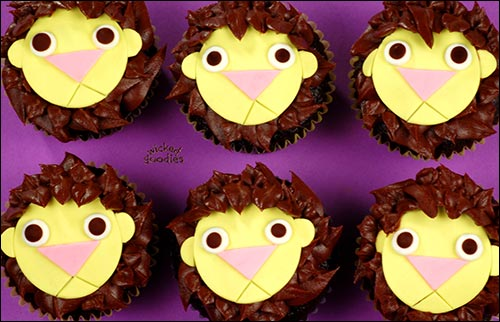 How to Make Lion Cupcakes by Wicked Goodies