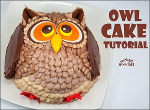 How to Make an Owl Cake by Wicked Goodies