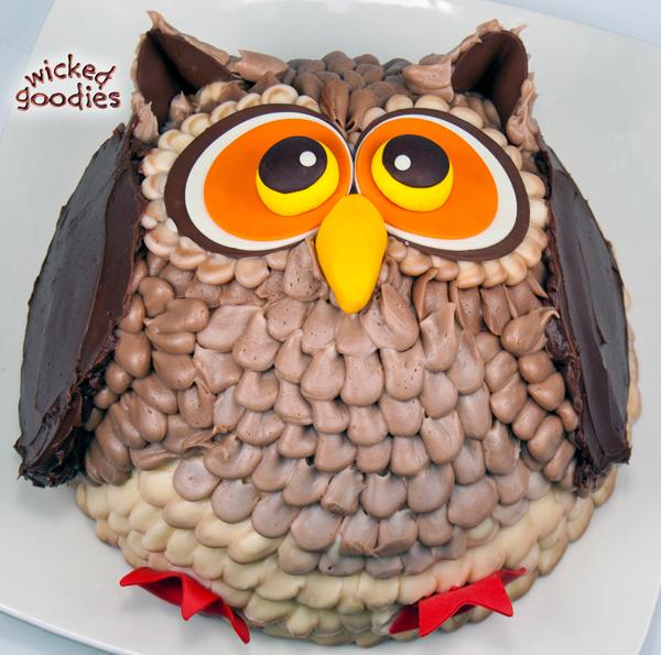 3D Owl Cake Tutorial
