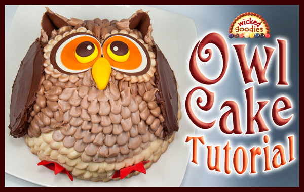 3D Owl Cake Tutorial