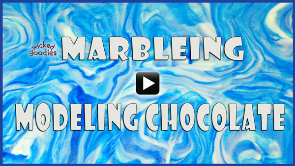 Video Tutorial on How to Marble Modeling Chocolate by Wicked Goodies