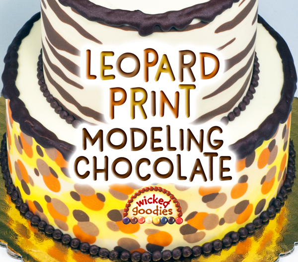 Leopard Print Modeling Chocolate Tutorial