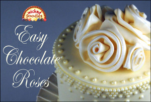 How to Make Modeling Chocolate Roses Video by Wicked Goodies