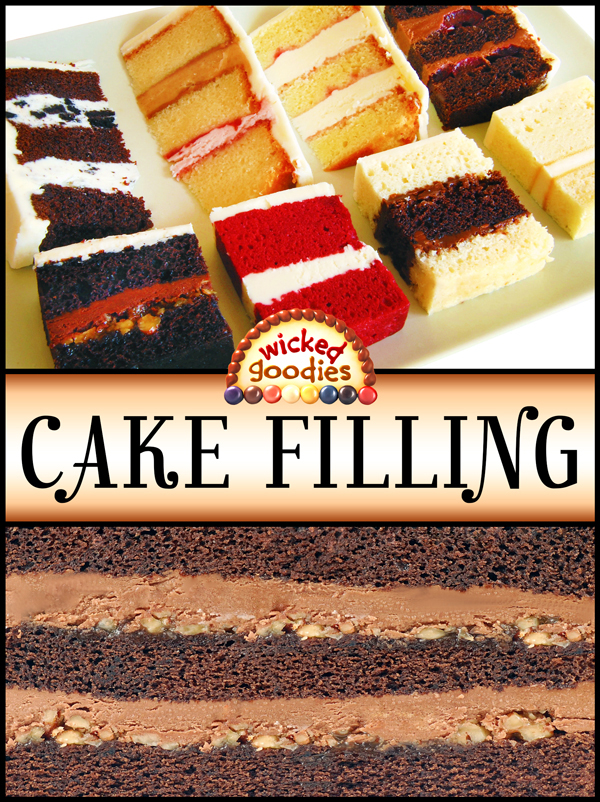 Layer Cake Filling in the Pan