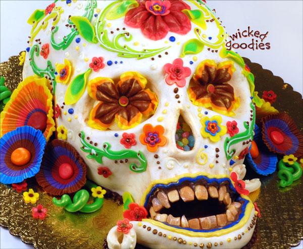 Dios de los Muertos Cake by Wicked Goodies