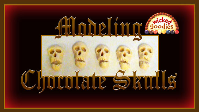 How to Make Edible Modeling Chocolate Skulls by Wicked Goodies