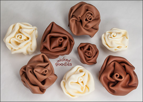 Modeling Chocolate Fabric Roses by Wicked Goodies & Modeling Chocolate Roses