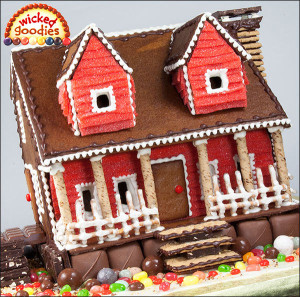 Candy House with Fruit Leather Siding and a Candy Lawn