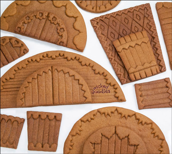 Embossed and Overlaid Gingerbread Doors and Entryways