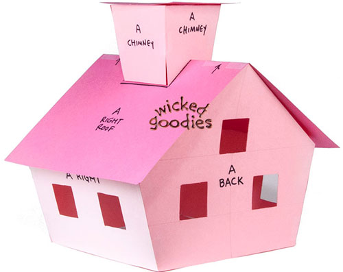 Paper Gingerbread House Template Wicked Goodies