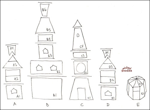 DIY Gingerbread House Paper Templates