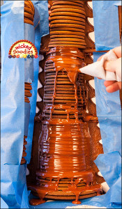 Gingerbread House Chocolate Waterfall Candy Factory